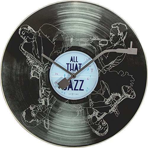 (Unek Goods NeXtime All That Jazz Wall Clock, Round, Glass,)