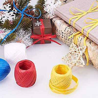 Red Renashed Bakers Twine Decorative Cotton String Rope Cord for Christmas Gift and DIY Crafts Wrapping
