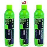 Nuprol Green Gas 2.0 1L Bottle 10.5oz Gas for Airsoft Guns x3 PACK