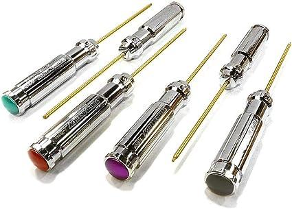 Integy C24728 Color Coded Multi-Size Handle Wrench 8pcs Set Ti-Nitride Allen Hex