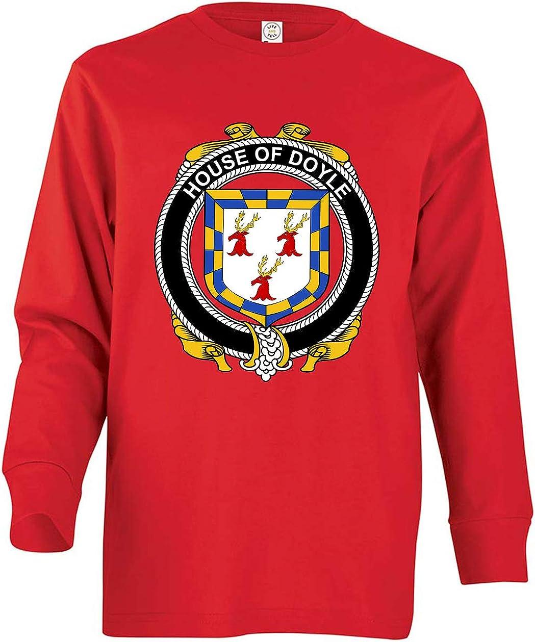 Tenacitee Boys Youth Irish House Heraldry Doyle T-Shirt