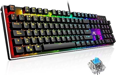 Teclado Mecánico Gaming ACGAM AG-109R 105 Teclas y Switches Blue ...