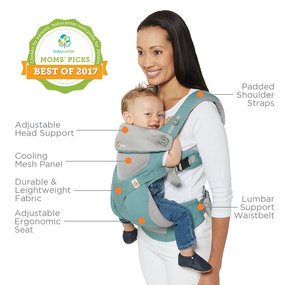 Ergobaby Baby Carrier Collection 360 55 15 Kg Dusty Blue Bc360ablu