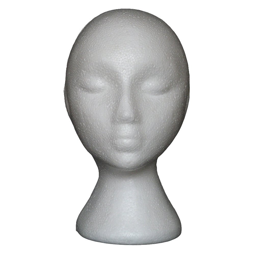 YHCWJZP Abstract Mannequin Head for Wigs,Training Head,Styrofoam Foam Head Mannequin Mainkin Head for Wig Making Drying Styling Stand Cap Display Holder