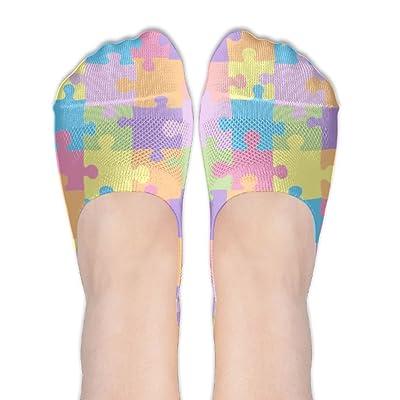 Colorful Puzzle Pattern Female Polyester Cotton Socks Women Boat Socks Thin Casual Socks Low Cut Socks