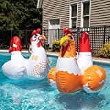 Chicken Fight Inflatable Pool Float Game Set