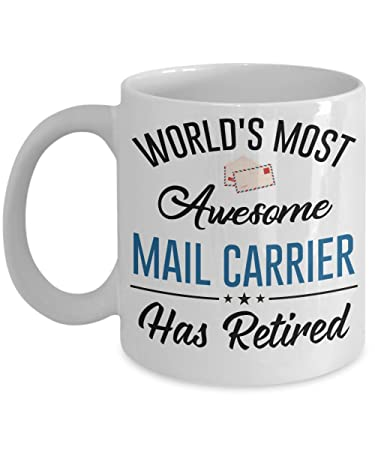 kiwi styles best mail carrier ceramic coffee mug cup worlds most awesome mail carrier has