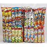"Assorted Japanese Junk Food Snack ""Umaibo"" 100 Packs of 11 Types"