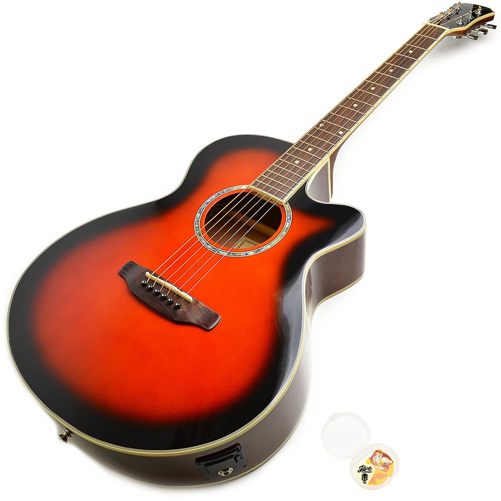 Legend by Aria アコースティックギター FCO-STD BS ブラウン エレアコ B072WLRDG9 BS(Brown Sunburst)