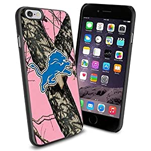 American Football NFL DETROIT LIONS Logo , Cool iphone 6 plusd 5.5 Smartphone Case Cover Collector iphone TPU Rubber Case Black