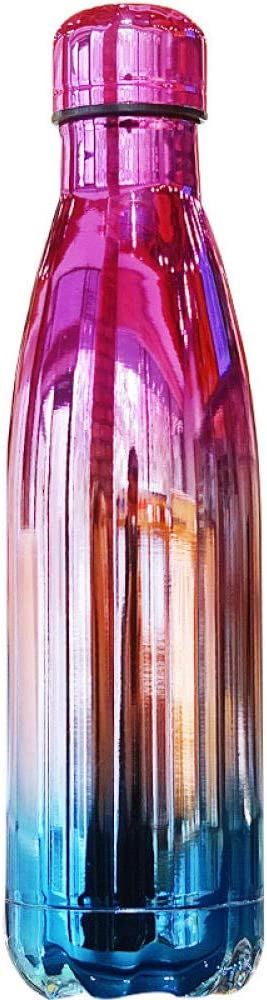 BLACK ELL Botella Agua Sin Bpa Deportes 500Ml,Taza de Aislamiento Simple Personalizada, Taza portátil de Gran Capacidad,Doble Pared Aislada Botella TéRmica para NiñO