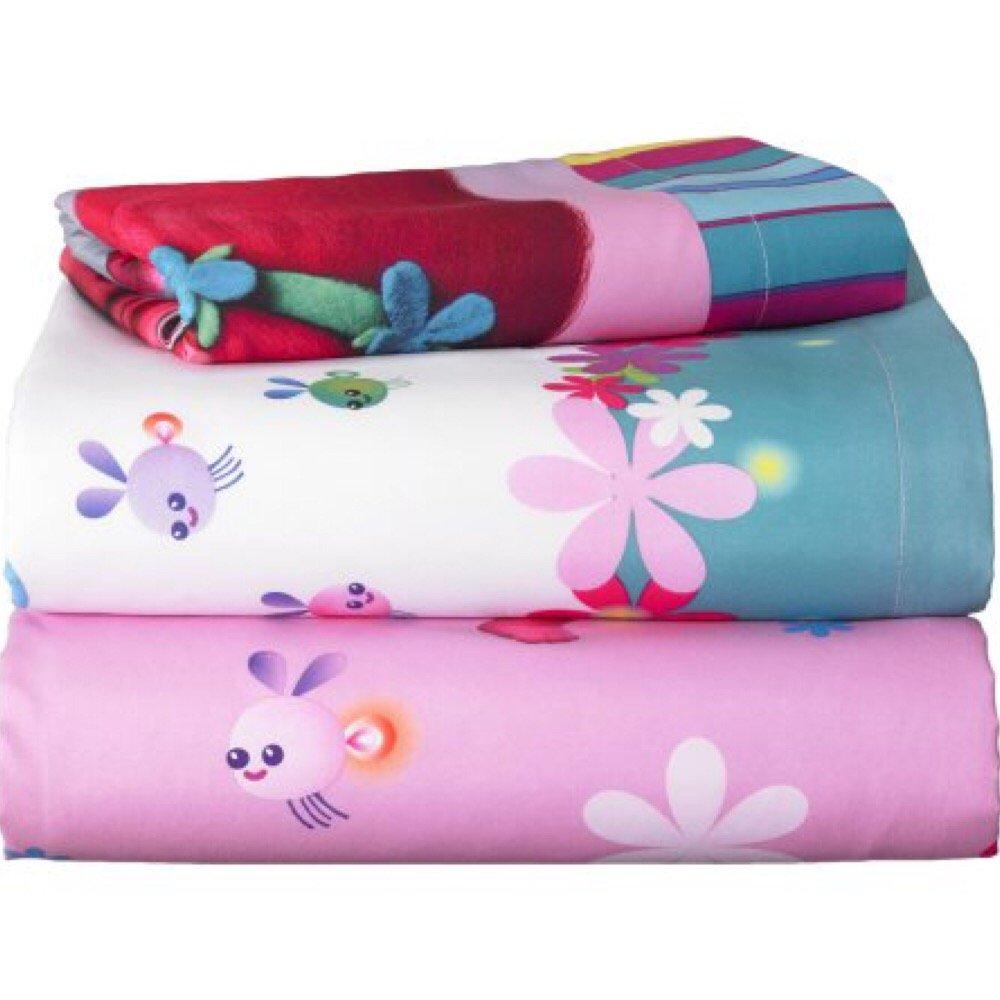 DreamWorks Trolls Complete 4 Piece Girls Comforter Set - Twin by DreamWorks (Image #7)