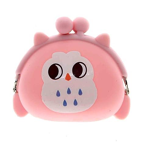 VANKER Portátil de Kawaii Owl Silicona Moneda del Caso en ...