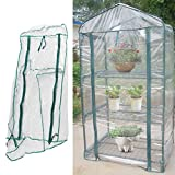 GLOGLOW Greenhouse Tent, Portable PVC Plant Green House Mini Warm Flower Plants Household Clear Waterproof Plant Cover for Outdoor and Indoor Gardening Planting(Without Iron Stand)