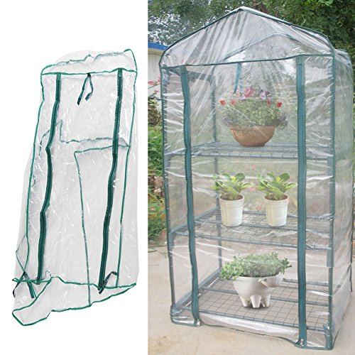 GLOGLOW Greenhouse Tent, Portable PVC Plant Green House Mini Warm Flower Plants Household Clear Waterproof Plant Cover for Outdoor and Indoor Gardening Planting(Without Iron Stand) by GLOGLOW
