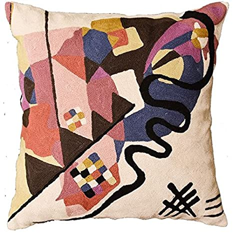 Amazon.com: Kandinsky marfil decorativo almohada cubierta ...