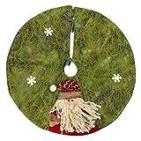 Mochiglory Christmas Tree Skirt Stands Xmas Santa Claus Snow Man Tree Base Wicker Decorations 60CM