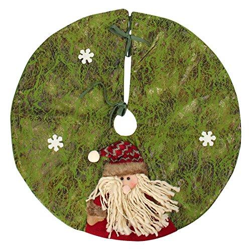 Mochiglory Christmas Tree Skirt Stands Xmas Santa Claus Snow Man Tree Base Wicker Decorations 60CM (Skirt Tree Christmas Wicker)