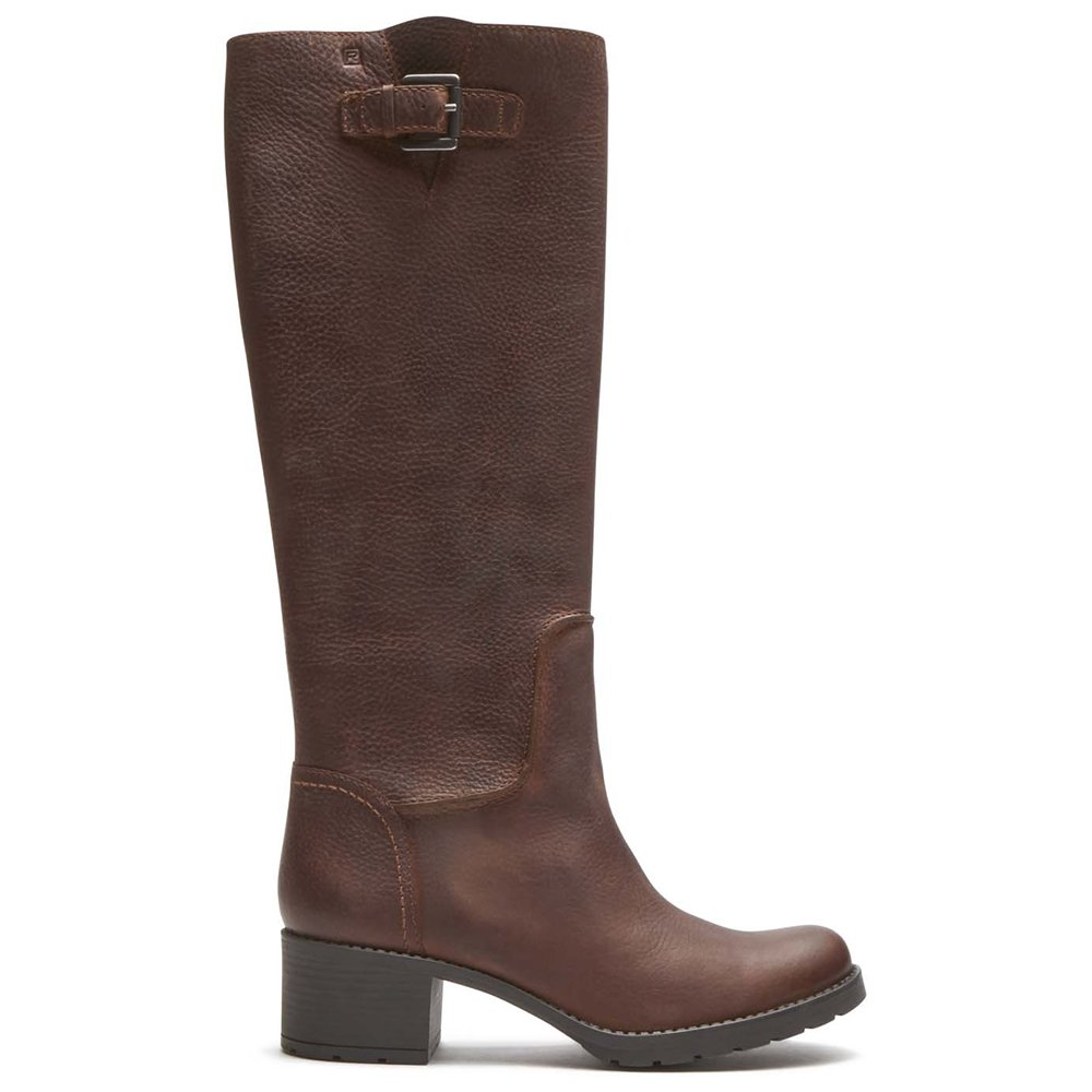Rockport Women's City Casuals Rola Tall Boot Nutella Tumble WL Boot 7 M