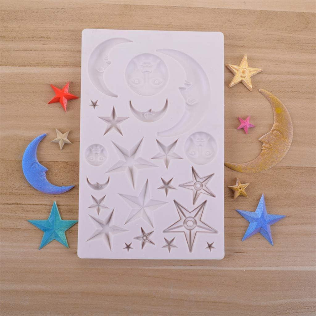 in resina UV con stella in resina epossidica Stampo per la creazione di gioielli sole Wanfor luna pianeta realizzato a mano