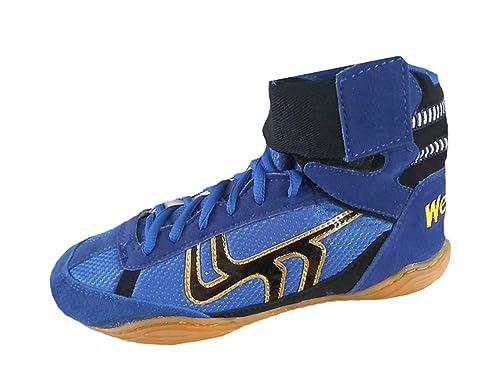 e2bc5e0433ac Wei Rui Wrestling Shoes Boxing Boots Rubber Sole Combat Training Shoes  Men Women Children Kids
