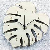 時計 掛け時計 おしゃれ デザイン  シルエットが可愛いハワイアン・アジアンテイストの掛け時計 モンステラ Silhouette Clock sd4534127