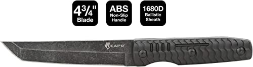 REAPR 11008 2 Pc. TAC Tanto EDC Pocket Knife Set Tactical Survival Outdoor Knife Set 2 Tanto Blade Knives 3-1 4 Inch Blade 4-3 4 Inch Blade 420 Stainless Steel Molded ABS Handle,Black