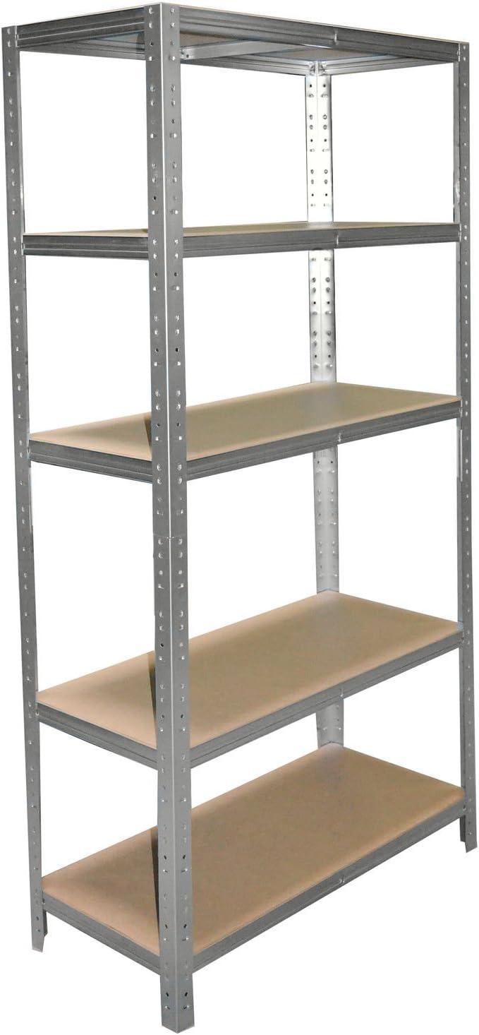 Schwerlastregal 200 x 110 x 30 cm mit 7 B/öden Stecksystem aus Metall verzinkt: Metallregal geeignet als Kellerregal Ordnerregal Archivregal Lagerregal Werkstattregal