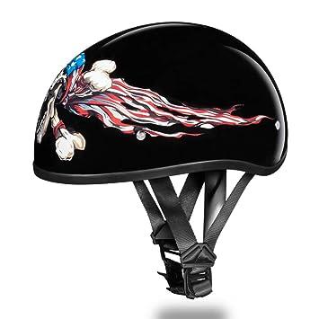 Casco de motocicleta mitad d.o.t. Daytona calavera Cap- W/patriot por Daytona – M