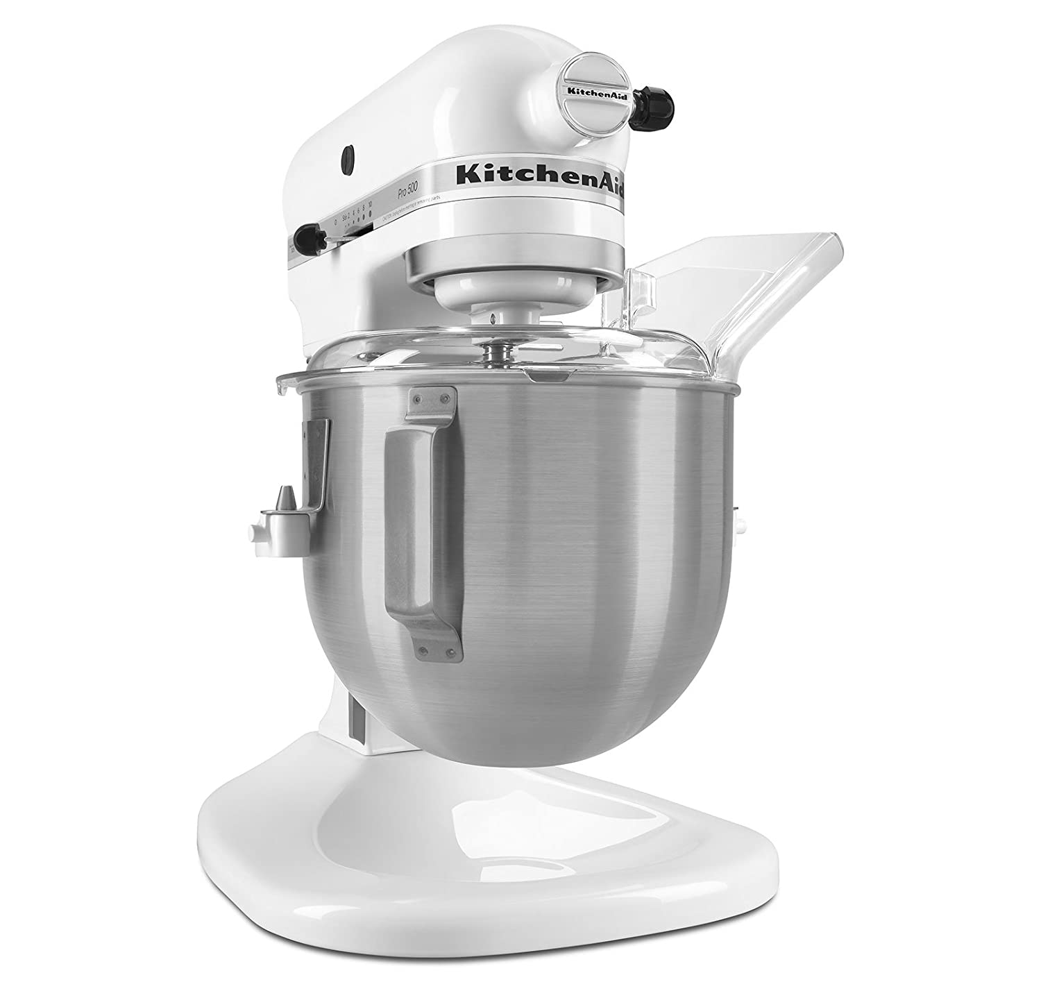 Kitchen aid heavy duty - Amazon Com Kitchenaid Ksm500pswh Pro 500 Series 10 Speed 5 Quart Stand Mixer White Electric Stand Mixers Kitchen Dining