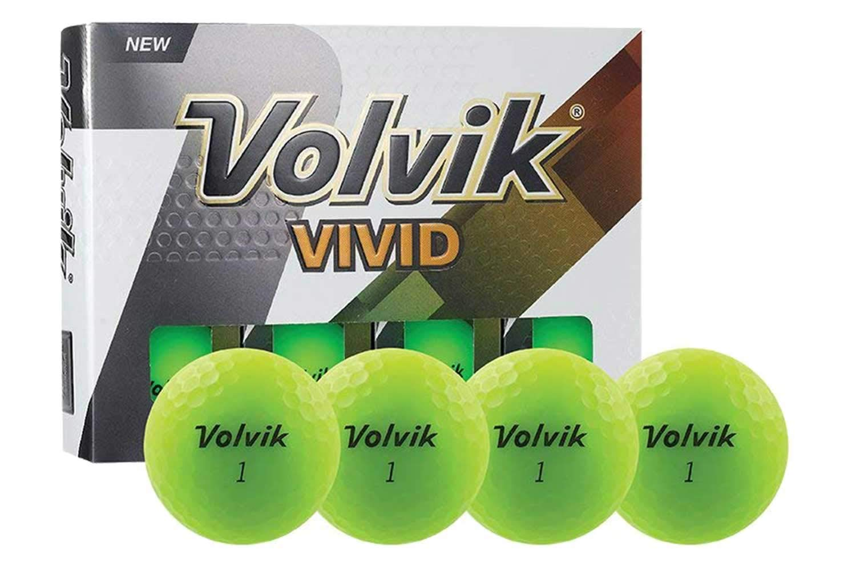 PlayBetter Volvik Vivid Matte Premium Bright-Colored Golf Balls | Multi-Packs (Green, Two Dozen (24 Balls))