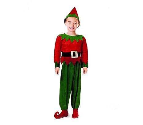 MEDIA WAVE store Costume Carnevale Travestimento Folletto per Bambino  538087 con Cappello Incluso (6  db4957229a32