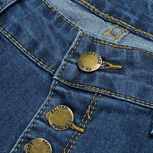 Sexy Vitello Lqqstore Forti A Sottile donne Denim Donna Alta Vita Blu Skinny jeans Jeans Stretch Moda Taglie Pantaloni Lunghezza rqxqtRZw