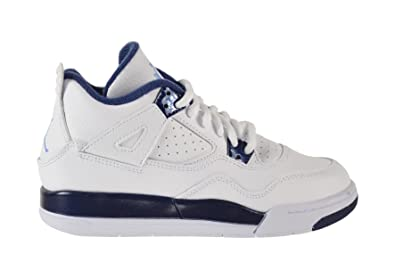 big sale 2beb4 a2f8c Amazon.com | Jordan 4 Retro Columbia LS BP Little Kids Shoes ...