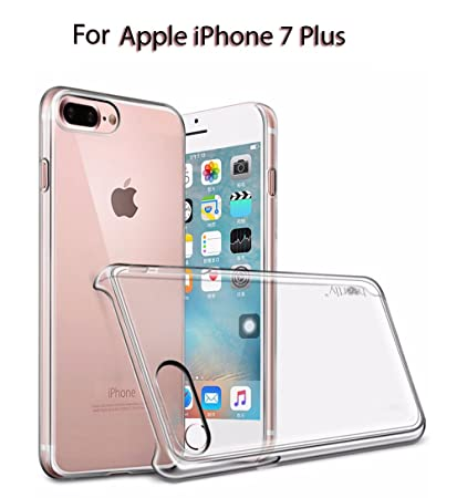 wholesale dealer 6d3f4 6fe92 Heartly Transparent Clear Crystal Hot Thin Hard Back Case Cover for Apple  iPhone 8 Plus/iPhone 7 Plus- Crystal View