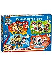 Ravensburger 3028 Paw Patrol – 4 stora format pussel (10, 12, 14, 16 stycken) för barn från 3 år,