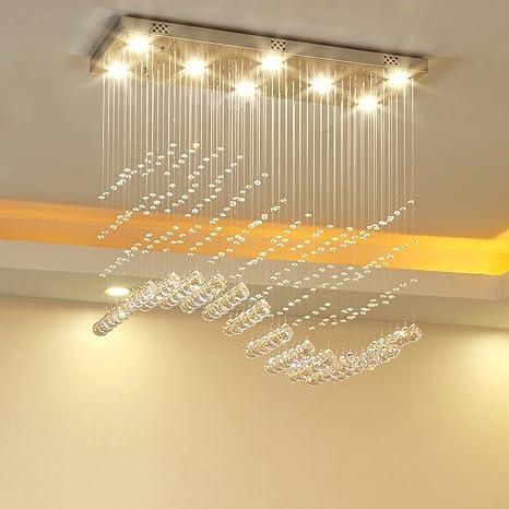 Yuyuan Light K9 cristallo moderna pioggia goccia lampadario ...
