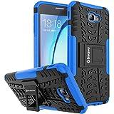 Bracevor Shockproof Samsung Galaxy J7 Prime / On Nxt / On7 2016 Hybrid Kickstand Back Case Defender Cover - Blue