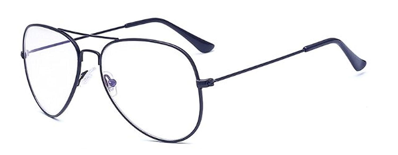 d5fd97a31d Amazon.com: New Sunglasses Women Gold Silver Frame Glasses Men UV400 Shades  Male Pilot Sunglass Female Eyewear 046 085 Black Clear: Clothing