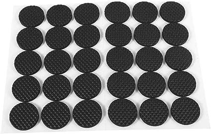 Acouto Almohadillas de Goma para pies 4 Piezas Negras Antideslizantes Autoadhesivas para Piso Protectores de Muebles Sof/á Silla de Escritorio Almohadillas de Goma para pies