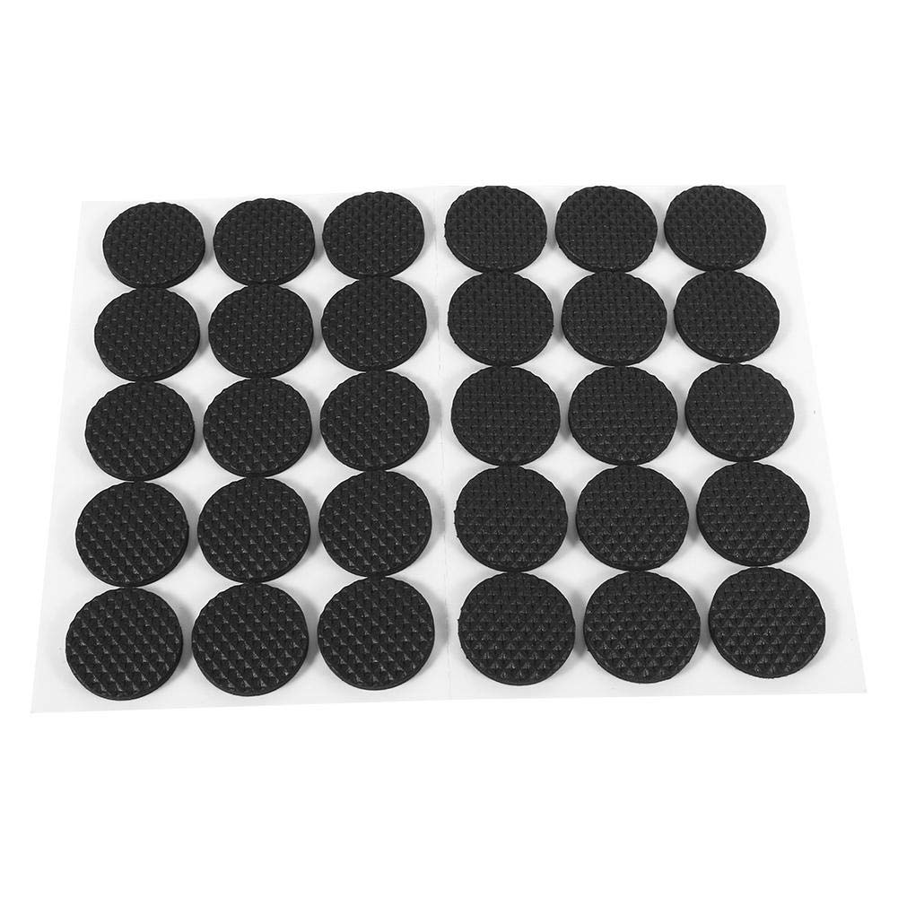 Asixx Rubber Feet Pads, 30Pcs Black Non-slip Self Adhesive Floor Protectors Furniture Sofa Table Chair Rubber Feet Pad