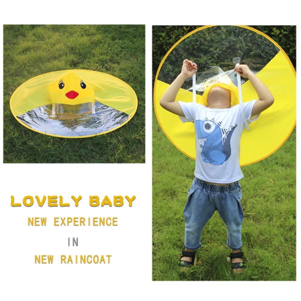 Leezo - Sombrero Impermeable con Capucha para niños, diseño de Pato, con Capucha y Manos Libres, para Estudiantes, niños, Adolescentes y Adultos, ...