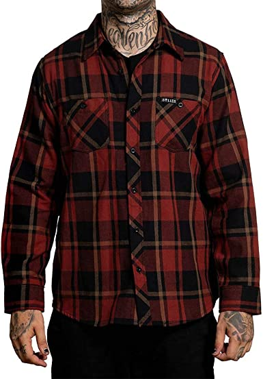Sullen Clothing - Camisa de franela (palisandro) rojo S ...
