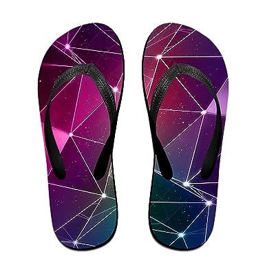 Couple Flip Flops 3D Fire Print Chic Sandals Slipper Rubber Non-Slip Beach Thong Slippers