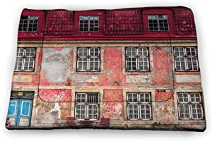 Nomorer Large Pad Pet Urban for Food and Water for Wood Floors Old Aged Building in Ancient City Tallinn Estonia Antique Structure Windows 35