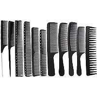 Frisör kam- en professionell kolfiber Mätning Barber och frisör klippning kam, antistatisk, Heat Resistant