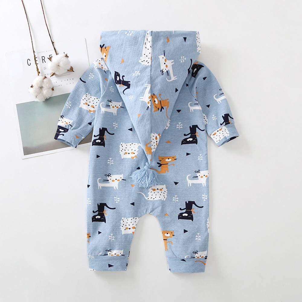 Baby Langarm Spielanzug Schlafsack Zarupeng Baby M/ädchen Jungen Wickelbody Strampler Kapuzenoverall mit Rei/ßverschluss