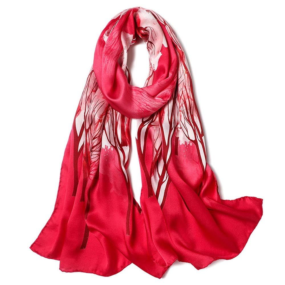 Women's Soft Silk Scarves Fashion Print Floral Neck Scarf Shawl Wrap Sarong Anti-Allergy Neck Predection Fashion (color   5, Size   170cm53cm)