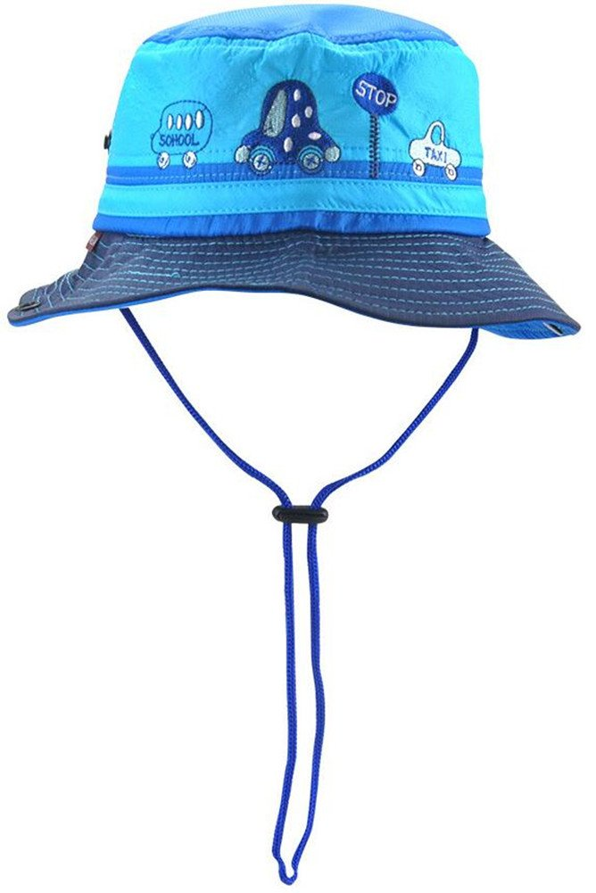 Guozyun Baby Boys Sun Hat Bucket Caps with Breathable Protection for 8-36 Months Infant Toddler Kids (8-24 Months, Sea Blue)