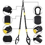 marsboy Sistema de Entrenamiento en Suspensión de Ejercicios Home Yoga Fitness Fortalecimiento Resistencia y Tonificación Muscular color negro y amarillo